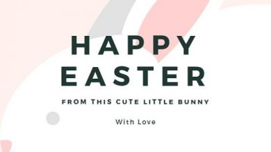 Happy Easter Wishes Card 390x220 - Happy Easter Wishes Card